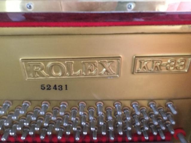 Rolex KR-33 Auburn Pianos Tuning Sydney